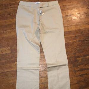 Max Studio khaki straight leg pants sz 8 NWT $160